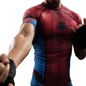 Remera Spiderman Homecoming Hombre Araña Compresion Marvel