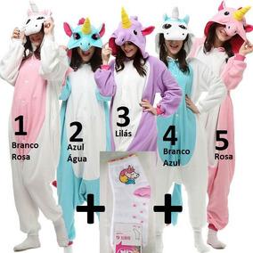 Unicórnio Pijama Kigurumi Plush Macio C.asas + Brinde Meia.