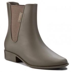 Bota Galocha Cano Curto Zaxy London Boot Ii - Verde