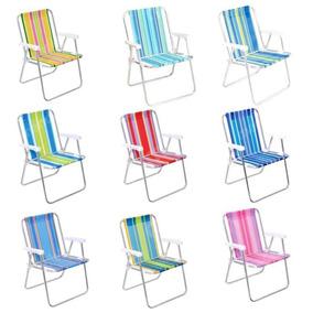 Cadeira De Praia E Piscina Alta Alumínio