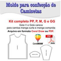Molde De Camiseta Gola V E Gola Careca - Corel Draw Ou Pdf
