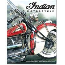 Anuncio Poster Lamina Metalico Vintage Indian Moto 0146