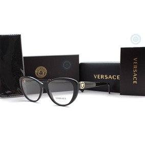 Lentes Versace Mujer Ve3246b Gb1 Black Original Oftalmico