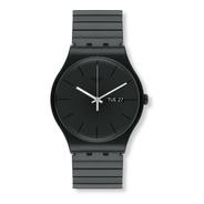 Reloj Swatch Malla Elastizada Color Negro Suob708