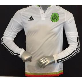 211e4e90171ee Jersey Camiseta Mexico Adizero Visita Blanca Manga Larga 6
