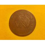 Moneda China Antigua Provincia Hunan 20 Cash 1919 + 4 Timbre