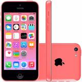 Iphone 5c Apple 32gb Rosa Wi-fi 3g 4g Tela 4 Cam 8mp Lacrado