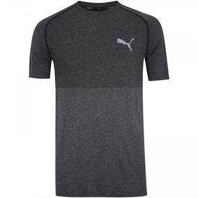 Camiseta Puma Evoknit Basic Tee - Masculina - Cinza