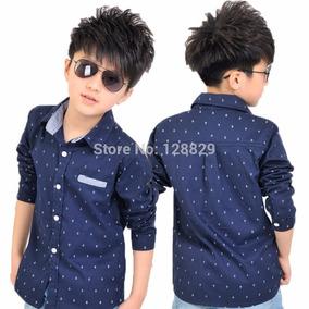 Camisa Infantil Menino Manga Comprida Barato