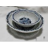 Ggb 2 Antiguas Fuentes Hondas Calada Fina Porcelana Azul