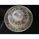 Antiga Bela Grande Manteigueira De Porcelana Scmidt Anos 70