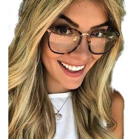 Óculos Feminino Armação Grau Geek Quadrado Vintage Flora Dio
