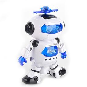 Robô Astronauta Que Dança Eletrônico Azul