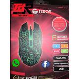Teros Mouse Óptico Gamer 2400 Dpi Negro