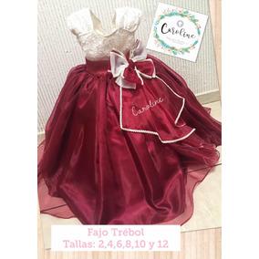 Vestido Color Vino Talla 14 Con Envío Gratis