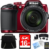 Nikon Coolpix B500 40x Optical Zoom Digital Camera 16gb Bund