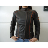 Jaqueta De Couro Legítimo Harley Davidson - Feminina Tam Gg