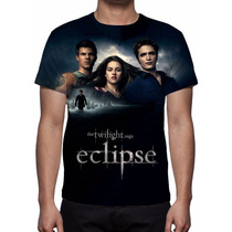 Camisa, Camiseta Filme Crepúsculo Eclipse - Estampa Total