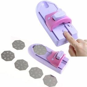 Kit Stamping Decoracion Uñas Sello Placas Raspador Manicuria