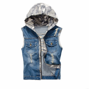 Colete Jeans Masculino Rasgado Rock Luxo Pronta Entrega Top7