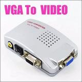 Adaptador Conversor Vga A Rca Notebook/pc A Tv O Proyector