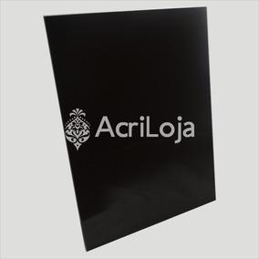 Chapa Placa De Acrílico Preto 100cm X 50cm Esp. 2mm