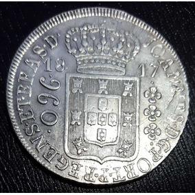 Moeda Prata Patacão 960 Réis 1817 R Brasil Recunho A Estudo