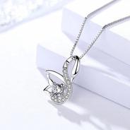 Collar Cisne De Plata 0.925 Con Zirconia - 1037