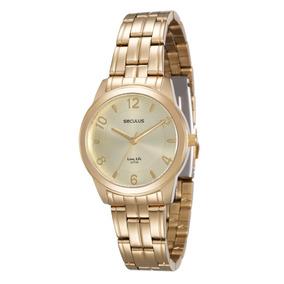 Relógio Seculus Feminino Dourado - 20425lpsvda1