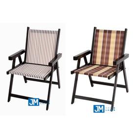 Cadeiras Em Madeira Dobrável Varanda Veneza 2 Peças