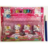 Muñeco Hello Kitty X 4 En Blister