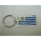 Llavero Metalico Bandera De Uruguay