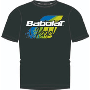 Remera Babolat Hombre Classic Padel Negro