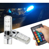 Bombillos Led T10 O W5w Color Programable Rgb Control X2
