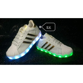 Tenis adidas Superstar Led Recargables Ultimo Par!!!