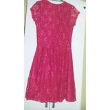 Lindo Vestido De Renda Rosa