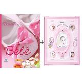 Livro Maternidade Bebe Diario Menina Rosa + Album Fotos Kit