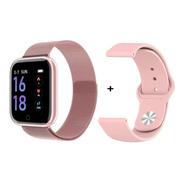 Relógio Smartwatch T80 Batimento Cardíaco, Pressão Arterial