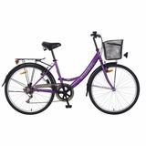 Bicicleta Ondina Dama 6 Vel Jazz Paseo R 26 Canasto/parrilla