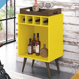 Bar Com Bandeja Pub - Amarelo - Edn Móveis