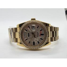 Reloj Rolex Presidente Lluvia De Diamantes 38mm