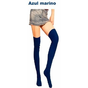 Medias Pantys Mod Bucaneras Solo En Color Azul Marino