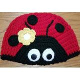 Gorro En Crochet Para Bebé De 6-12 Meses. 47 Cm De Cabeza