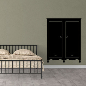 Vinilos Decorativos Pared Armario Dormitorio Mueble 52x65cm