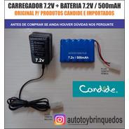 Bateria 7.2v 500mah + Carregador 7.2v (tamiya)