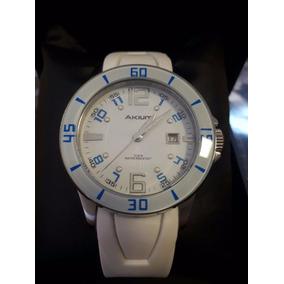 Relógio Unissex Esportivo Akium Vivara 39 Mm Branco Silicone