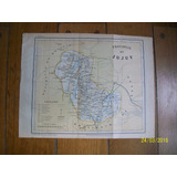 Mapa Provincia De Jujuy. Grabado Original De 1889