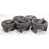 Paquete 5 Molcajetes Piedra Volcánica Mini Envío Gratis