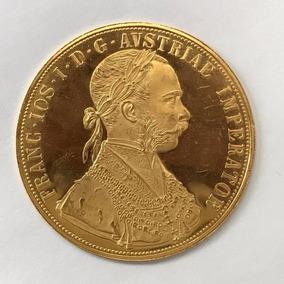 Moeda Imperador Francês Ano 1915 Em Ouro 24k Peso: 14 G