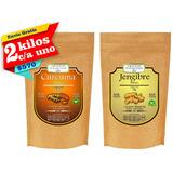 2 Kg Curcuma Y 2 Kg Jengibre Premium Envio Gratis